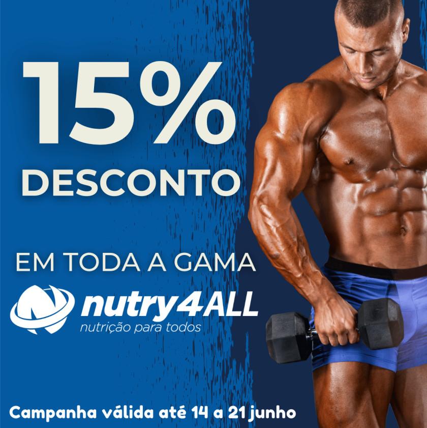 15% Desconto - Em toda a gama Nutry4All