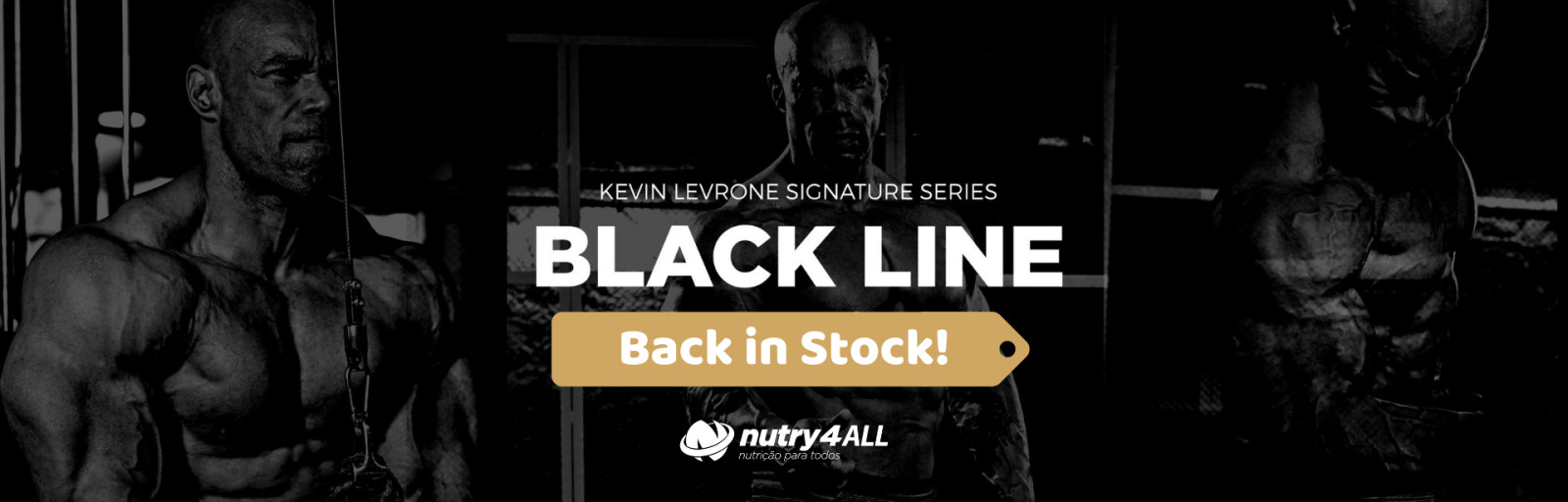 Kevin Levrone Signature Series - BLACK LINE - Back in Stock!